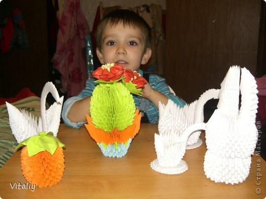 Наши работы из модульного оригами