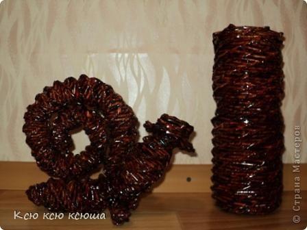 """Мои первые работы выполненные в технике """"Плетение из газетных трубочек"""" фото 1"""