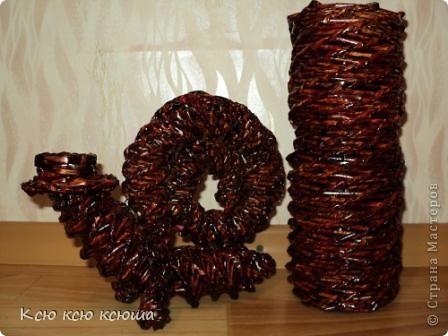 """Мои первые работы выполненные в технике """"Плетение из газетных трубочек"""" фото 2"""