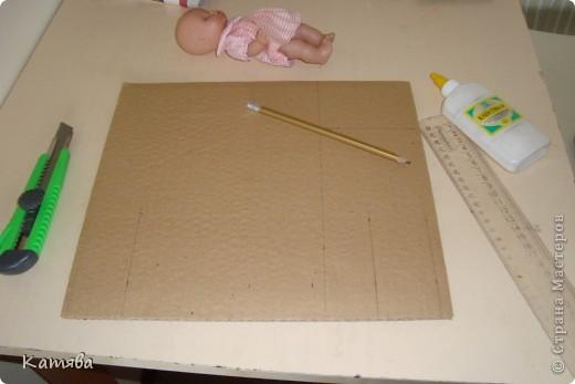 Сейчас расскажу как изготовить вот такую кроватку для куклы. фото 2