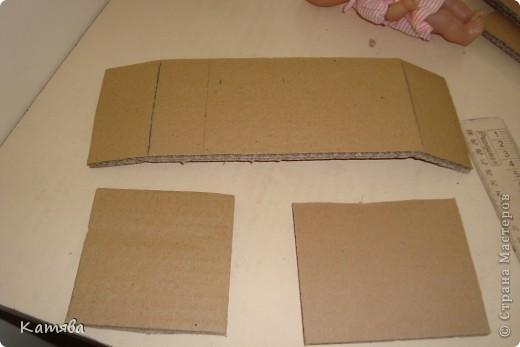 Сейчас расскажу как изготовить вот такую кроватку для куклы. фото 3