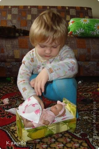 Сейчас расскажу как изготовить вот такую кроватку для куклы. фото 8