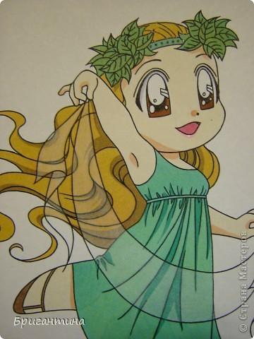 Моя сестра Antoine любит рисовать мангу и малышек чиби. Эти рисунки выполнены фломастерами. фото 5