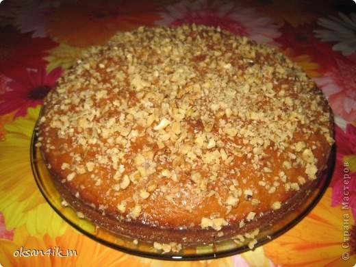 Очень вкусный пирог с насыщенным вкусом вареной  сгущенки. фото 1