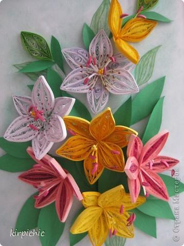 Лилии бывают разные, хотелось все варианты попробывать, но терпения хватило только на эти...:) фото 1