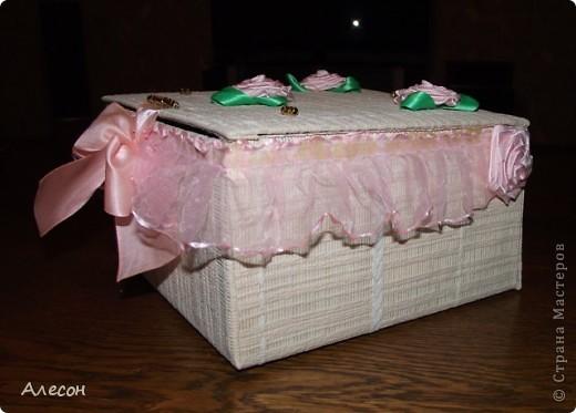 Коробка  для  рукоделия. фото 3