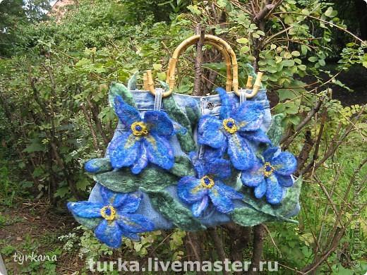 """Сумка """"В плену у синих орхидей"""""""