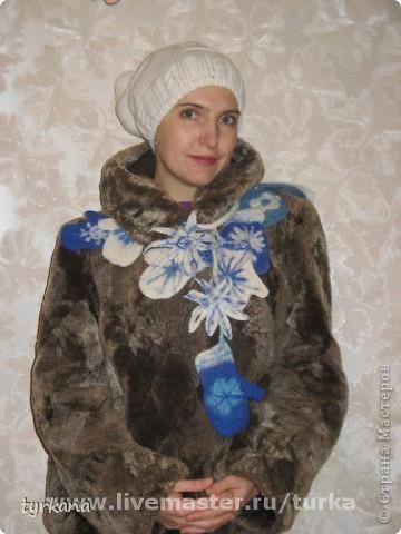 """Шарфик-боа """"Проделки снежной принцессы"""" фото 3"""
