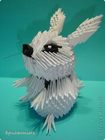 Нашла на японском сайте картинку зайчика, но сделать такого же не вышло. Изменила что-то, что-то добавила. И вот он готов! фото 7