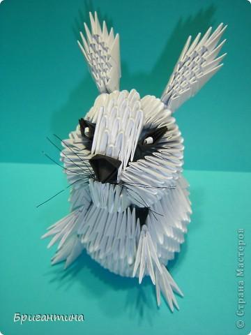 Нашла на японском сайте картинку зайчика, но сделать такого же не вышло. Изменила что-то, что-то добавила. И вот он готов! фото 8