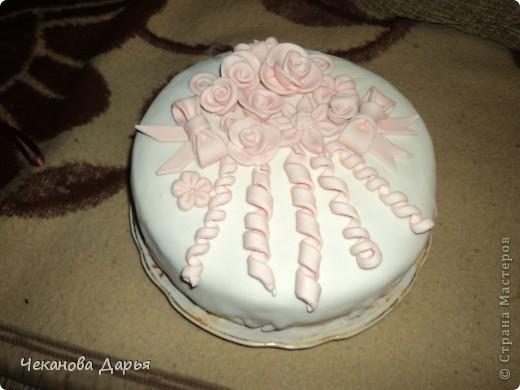 Торт с мастикой из маршмеллоу  делала впервые! но впечатлений море! фото 2