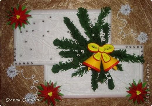 На этот раз получилась  новогодняя композиция с колокольчиками. фото 2