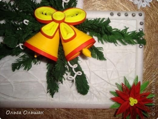 На этот раз получилась  новогодняя композиция с колокольчиками. фото 3