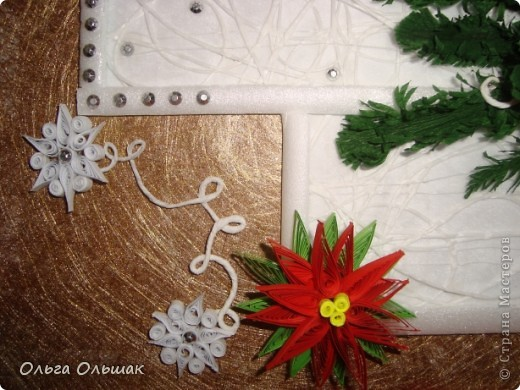 На этот раз получилась  новогодняя композиция с колокольчиками. фото 4