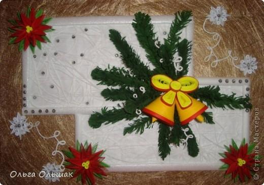 На этот раз получилась  новогодняя композиция с колокольчиками. фото 6