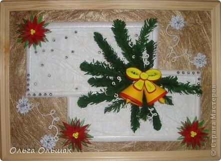 На этот раз получилась  новогодняя композиция с колокольчиками. фото 1