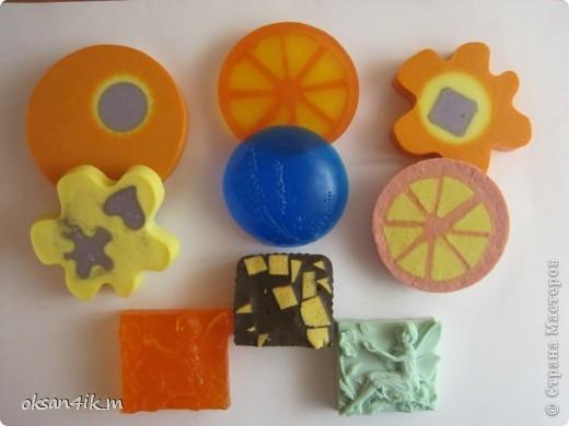 Вот такое разноцветное мыло мы наварили... фото 1
