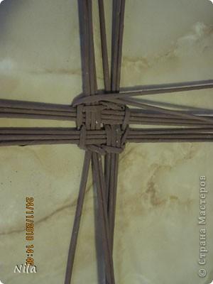 Мастер-класс Плетение Варианты плетения дна корзинки Бумага газетная фото 9