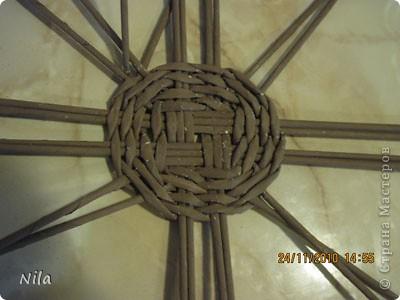 Мастер-класс Плетение Варианты плетения дна корзинки Бумага газетная фото 12