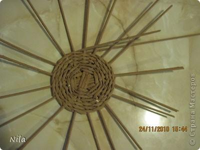 Для   tava13  выкладываю мини МК по плетению дна для подноса . Может кому-то еше пригодится. Для плотного плетения или большой корзинки плету 3 х3 фото 14