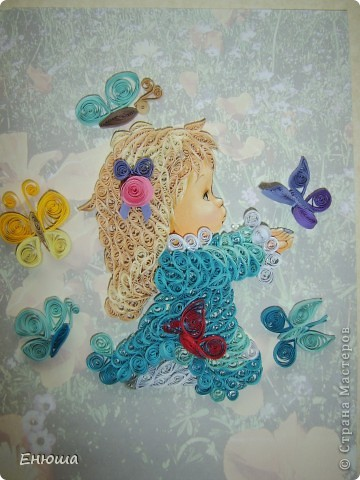 Девчушка с бабочками фото 2