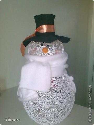 Мой первый снеговик! фото 4