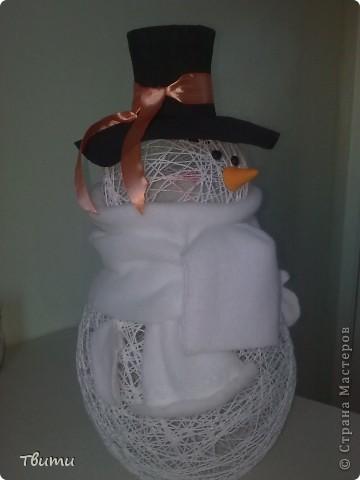 Мой первый снеговик! фото 5