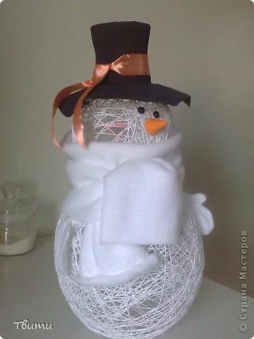 Мой первый снеговик! фото 6