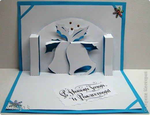Открытка-киригами с колокольчиками выглядит просто сказочно!