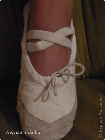 Декорировала балетки для дочки . материалы кружево, бисер, паетки, бусенки. фото 2