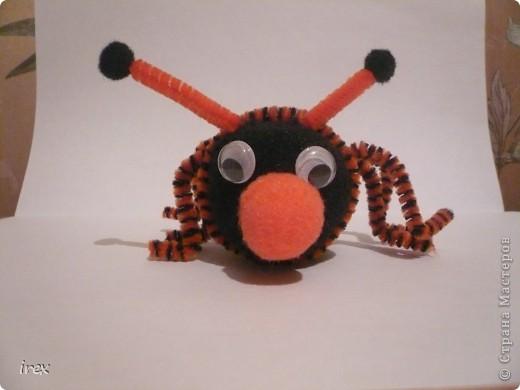 Решили с дочкой, ей 4 года, сделать жука с крылышками, но на крылышки терпения не хватило, и получился то ли жук, то ли паук фото 1