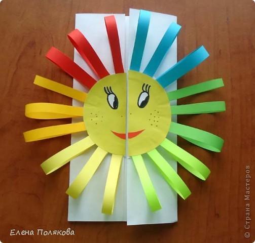 Так понравилась идея с солнышками на дисках Надежды Каликовой, что я решила ее немного переработать и сделать с детьми такие открытки ко Дню Матери. фото 6