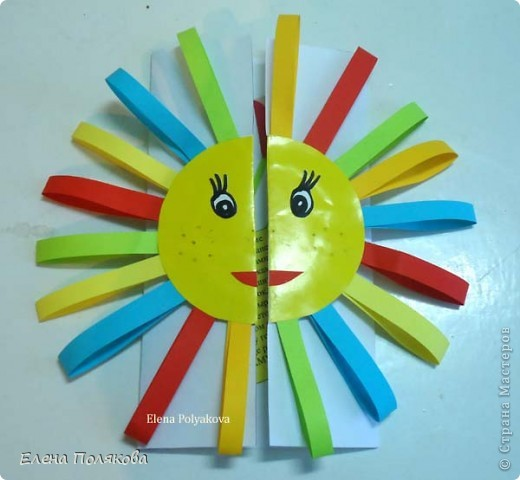 Так понравилась идея с солнышками на дисках Надежды Каликовой, что я решила ее немного переработать и сделать с детьми такие открытки ко Дню Матери. фото 1