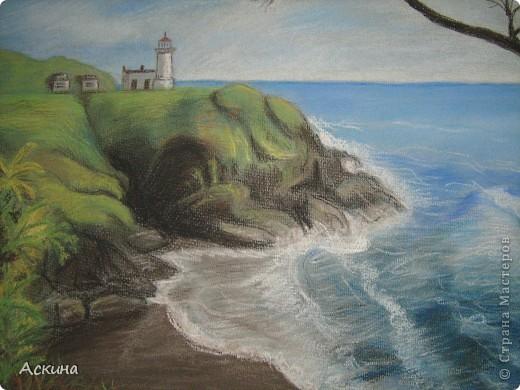 Это мой первый рисунок пастелью. Рисовала по самоучителю. фото 4