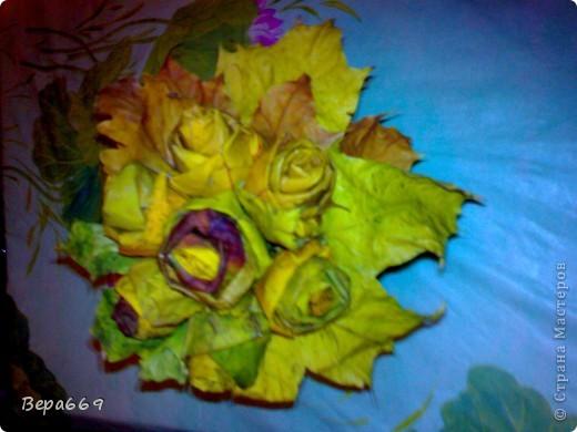 Букет из осенних листьев фото 2