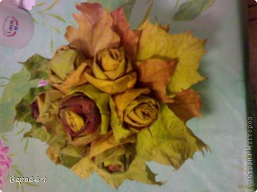 Букет из осенних листьев фото 1