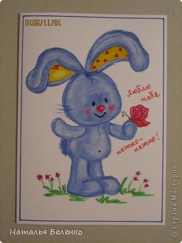 Эти открытки я нарисовала детям для образца. фото 2