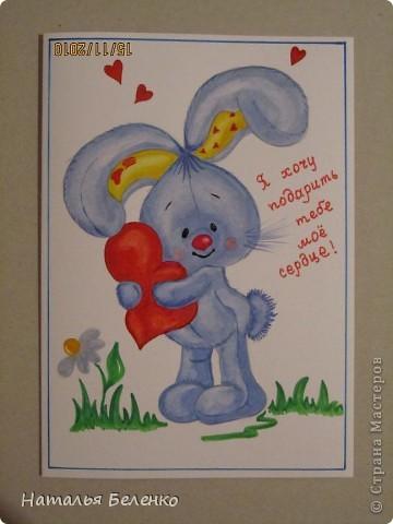 Эти открытки я нарисовала детям для образца. фото 1
