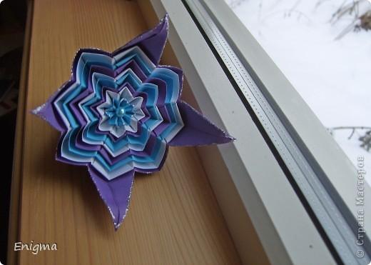 Цветочек из модулей кусудамы. фото 2