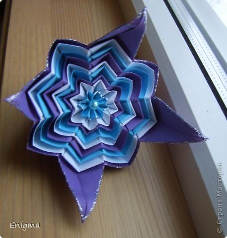 Цветочек из модулей кусудамы. фото 1