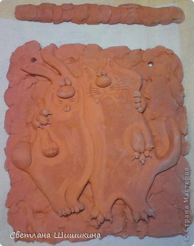 Хочется показать из до окрашивания... Мне так нравится натуральный цвет глины, что приходиться долго настраивать себя, чтоб взяться за кисточку... фото 1