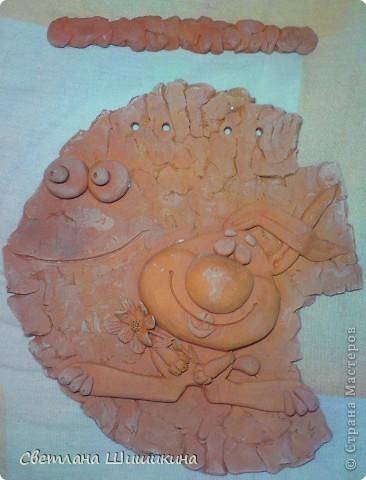Хочется показать из до окрашивания... Мне так нравится натуральный цвет глины, что приходиться долго настраивать себя, чтоб взяться за кисточку... фото 4