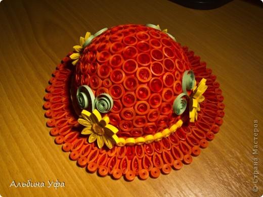 """1. Наконец-то и я """"родила"""" свою шляпку. Увидев их у Виктории  http://stranamasterov.ru/node/111906, загорелась сделать такую же. Вот что получилось. фото 1"""