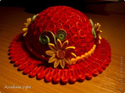 """1. Наконец-то и я """"родила"""" свою шляпку. Увидев их у Виктории  http://stranamasterov.ru/node/111906, загорелась сделать такую же. Вот что получилось. фото 2"""