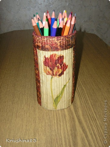 Решила сделать карандашницу для дочери фото 2