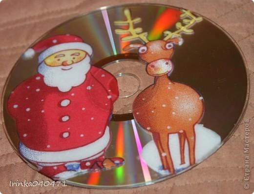 """Идею декорирования лазерных дисков техникой декупаж впервые увидела в """"Стране мастеров"""" у Александры  http://stranamasterov.ru/user/18247  фото 5"""