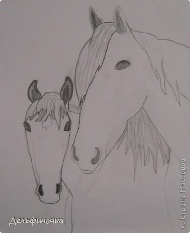 Доброго времени суток!  Я очень люблю лошадей. Ездить, к сожалению, сейчас не получается, поэтому я их рисую. Хочу поделиться ссылками на мастер-классы, с помощью которых я рисую лошадей, и показать пару рисунков. фото 2