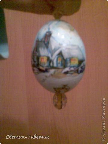 Такая вот игрушка из яичка,расписанная акрилом. фото 1