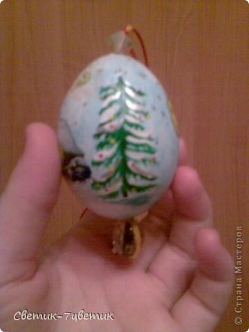 Такая вот игрушка из яичка,расписанная акрилом. фото 2
