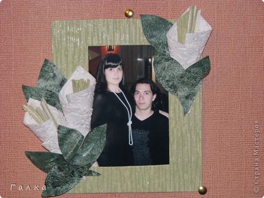 Рамочка для фоточки-основа-обои,декор-скорлупки от фисташек+цветные карамельки ))) фото 13